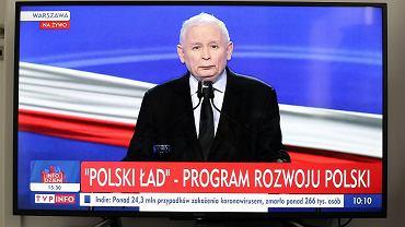 Polski Ład. 87 proc. przedsiębiorców spodziewa się strat [BADANIA]. Na zdjęciu Jarosław Kaczyński