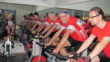 Drużyna Polski na Rowery na rowerkach stacjonarnych
