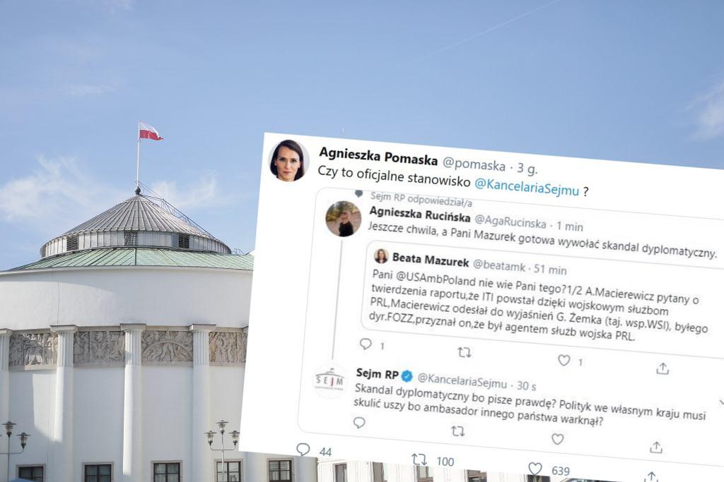 Kontrowersyjny komentarz z konta Sejmu RP