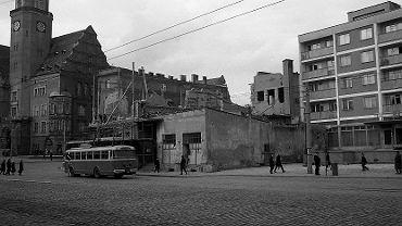 Trolejbus na obecnej al. Piłsudskiego w Olsztynie