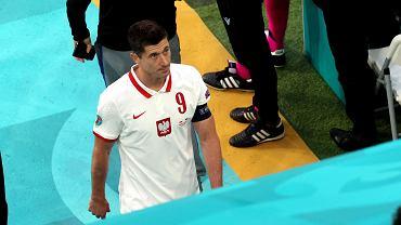 Robert Lewandowski podczas meczu Euro 2020: Polska - Słowacja