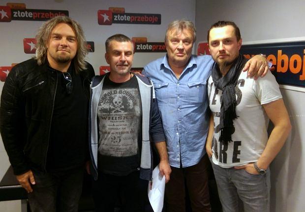 Wojciech, Piotr i Krzysztof Cugowscy w studiu Radia Złote Przeboje