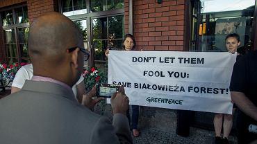 Przywitanie ludzi z UNESCO w Białowieży