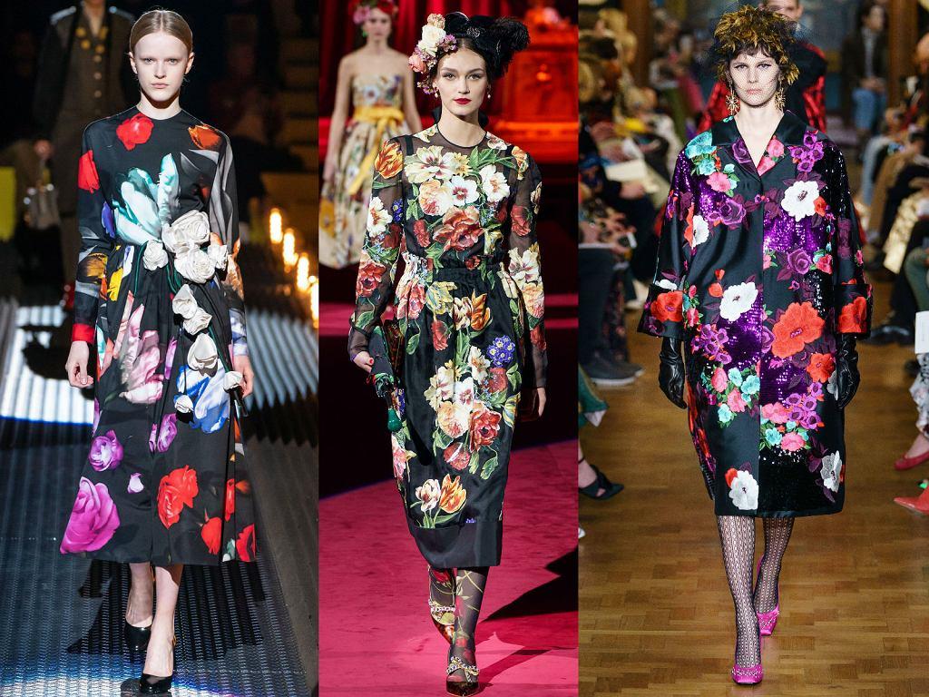 Kwiaty w jesiennym wydaniu w kolekcjach Prada, Dolce&Gabbana, Erdem