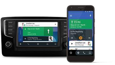 Android Auto w samochodzie i na smartfonie