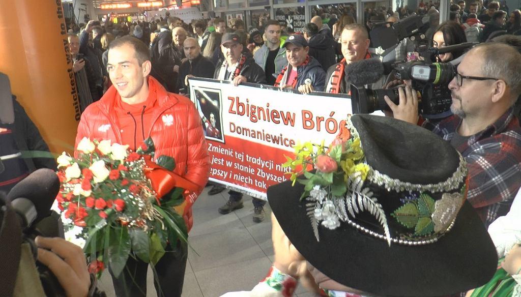 Powitanie Zbigniewa Bródki