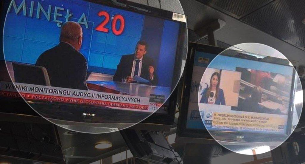 Relacje w TVP Info i TVN24
