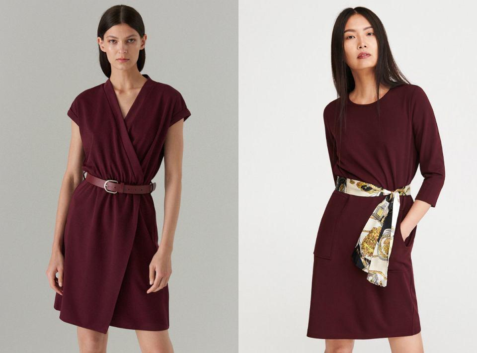 Bordowe sukienki