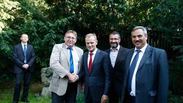 Donald Tusk na spotkaniu z przedstawicielami regionów PO