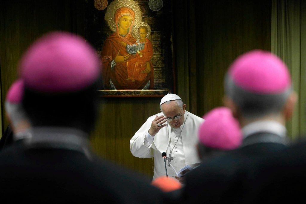 Papież Franciszek na synodzie biskupów