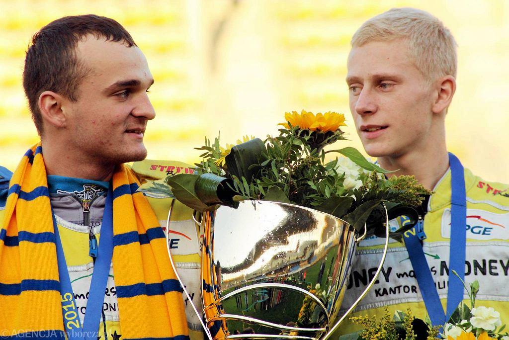 Juniorzy Stali Gorzów Bartosz Zmarzlik, Adrian Cyfer i Rafał Karczmarz wygrali Młodzieżowe Mistrzostwa Polski Par Klubowych 2015