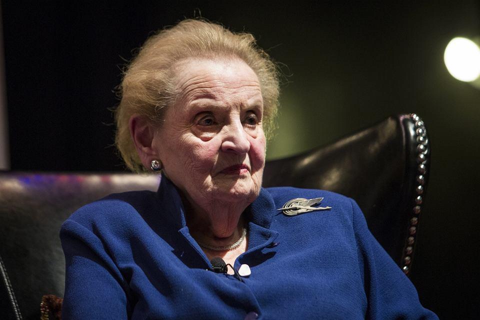 Była sekretarz stanu USA Madeleine Albright. Chicago, 19 kwietnia 2018