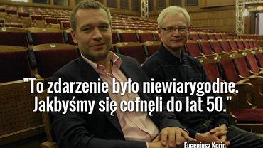 Dyrektorzy Teatru 6.piętro Michał Żebrowski i Eugeniusz Korin