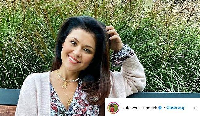 Katarzyna Cichopek w modnej sukience na jesień