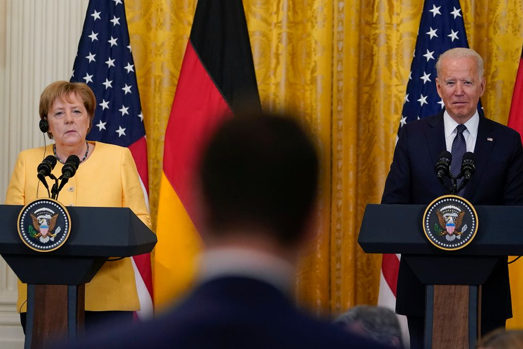 Angela Merkel i Joe Biden