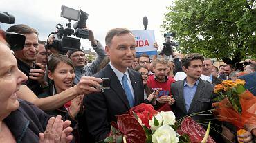Andrzej Duda w czwartek w  Aleksandrowie Kujawskim