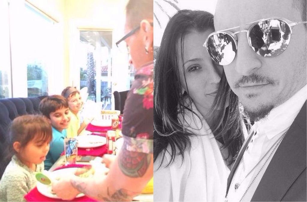 Chester Bennington z żoną i dziećmi
