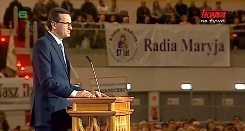 Premier Mateusz Morawiecki podczas urodzin Radia Maryja