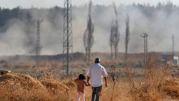 Akcakale, w prowincji Sanliurfa, leżące przy granicy z Syrią.