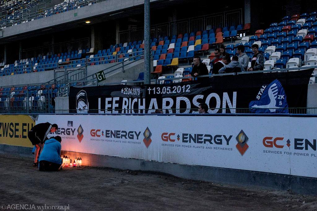 Kibice Stali Rzeszów w czwartą rocznicę śmierci Lee Richardsona