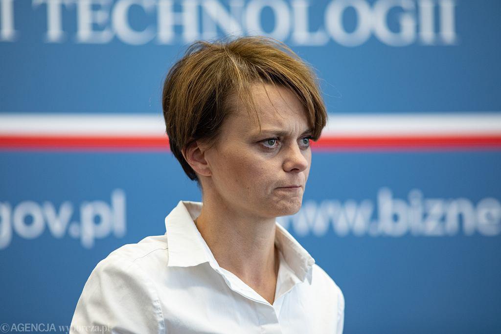 Minister przedsiębiorczości i technologii Jadwiga Emilewicz