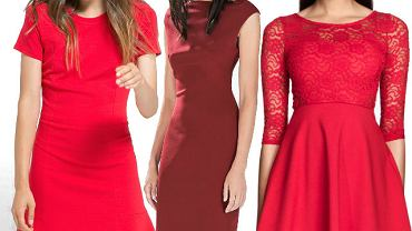Czerwone sukienki z jesiennych kolekcji