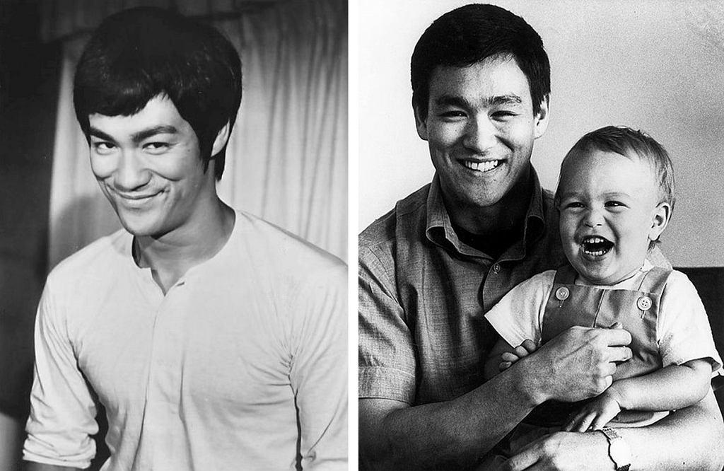 Bruce Lee przeprowadził się do USA, gdy miał 18 lat. Po prawej z synem Brandonem (fot. Wikimedia Commons)