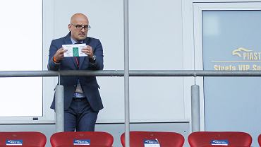 Jacek Bednarz podczas meczu Piast Gliwice - Pogoń Szczecin 0:0