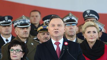 Andrzej Duda podczas państwowych obchodów Święta Niepodległości