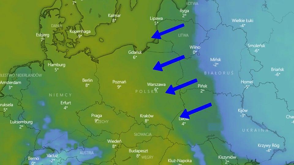 Pogoda. Do Polski nadciąga zimno znad Rosji (zdjęcie ilustracyjne)