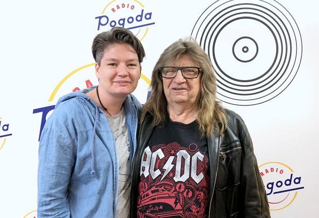 Andrzej Zieliński z zespołu Skaldowie i Agata Korycka w studiu Radia Pogoda