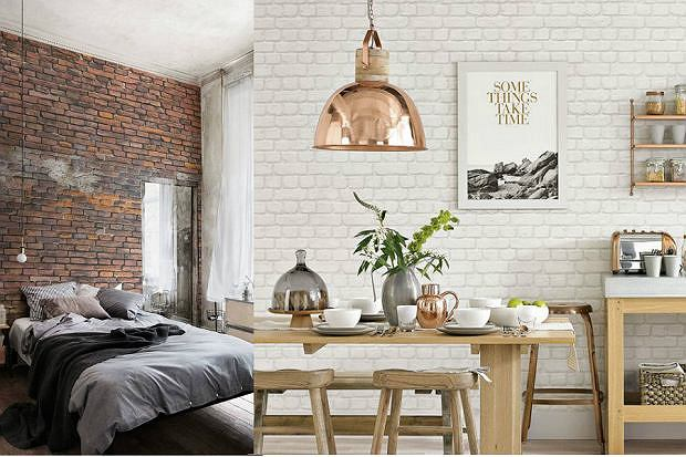 ściany Z Cegły I Drewna Wnętrzaaranżacje Wnętrz