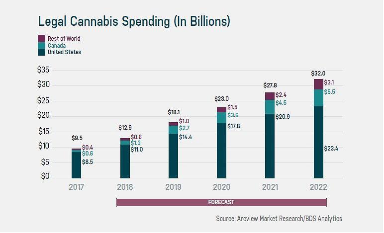Rynek kannabinoidów w USA, Kanadzie i na innych rynkach
