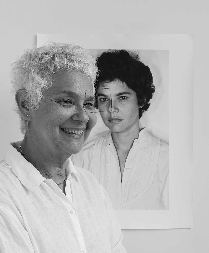 Liliana Porter 'Czterdzieści lat IIIA (autoportret z kwadratem 1973)', 2013 / ZACHĘTA NARODOWA GALERIA SZTUKI