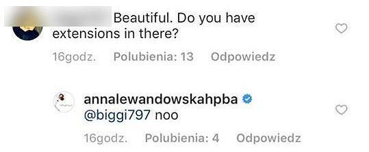 Skrin z profili Anny Lewandowskiej na Instagramie