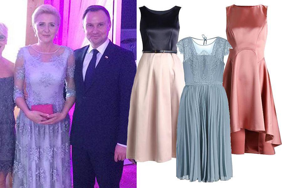 4109afc7a75d26 Najpiękniejsze sukienki na wesele dla mamy panny młodej. Koronkowe w stylu  Agaty Dudy i wiele innych modeli
