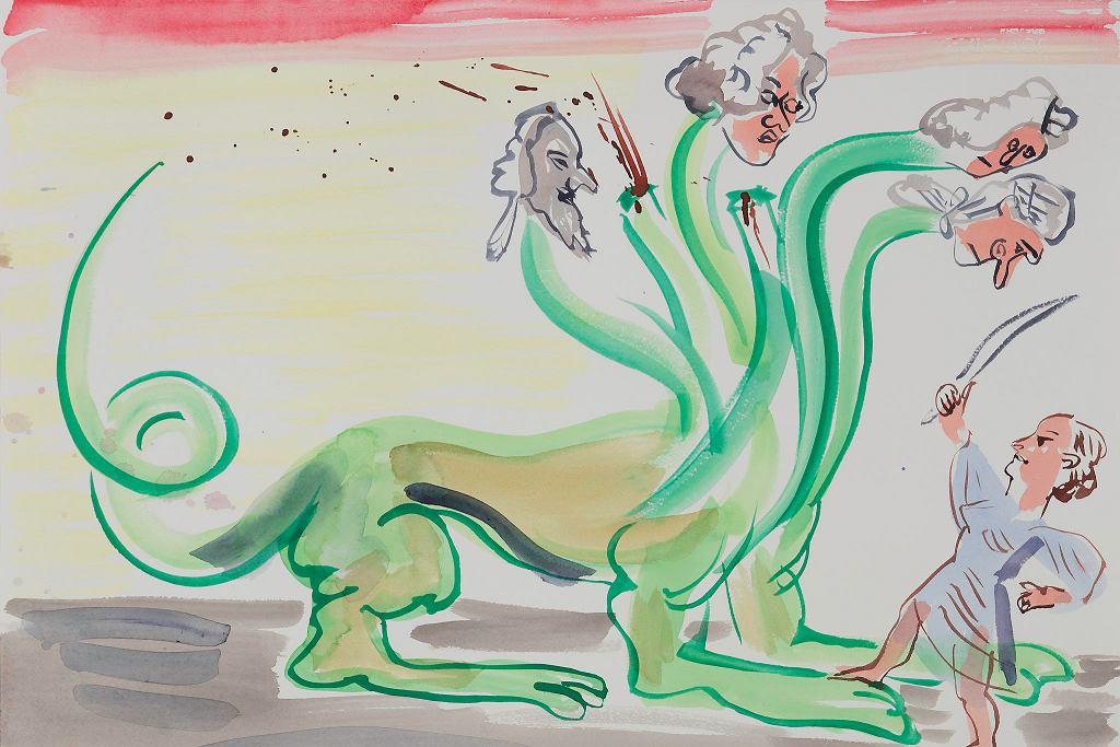 Wystawa 'Czym jest Oświecenie?' w Muzeum Sztuki Nowoczesnej. Camille Henrot, 'L'Hydre Aristocratique' / 'Hydra arystokratyczna', 2018, gwasz, papier. Dzięki uprzejmości artystki. / ZACHARY TYLER NEWTON