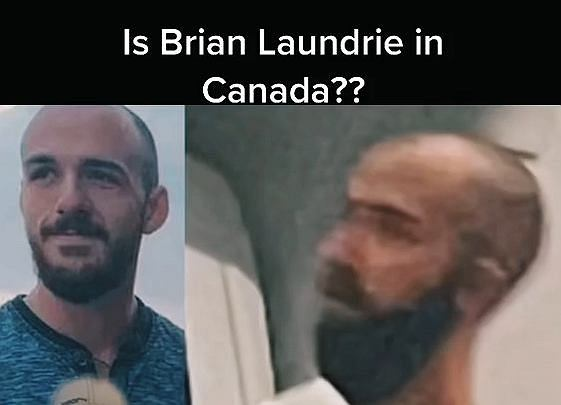 Brian Laundrie i widziany w kanadyjskim hotelu mężczyzna