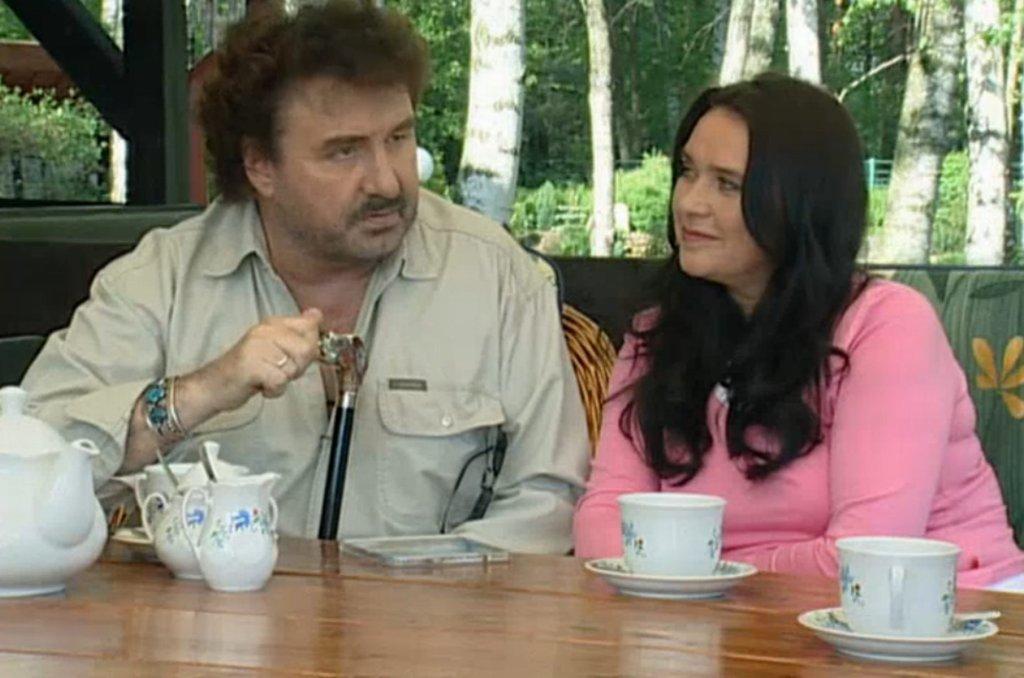 Krzysztof Krawczyk i jego żona Ewa w programie TVP
