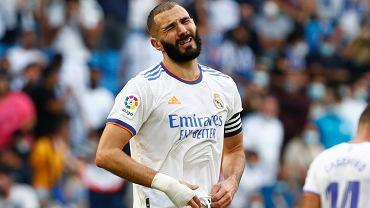 Karim Benzema w meczu Espanyol - Real Madryt
