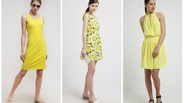 Żółte ubrania na lato