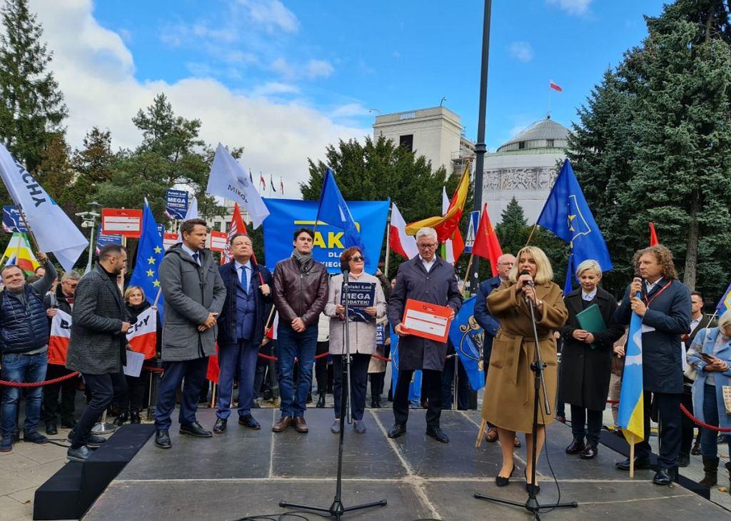 Protest samorządowców w Warszawie