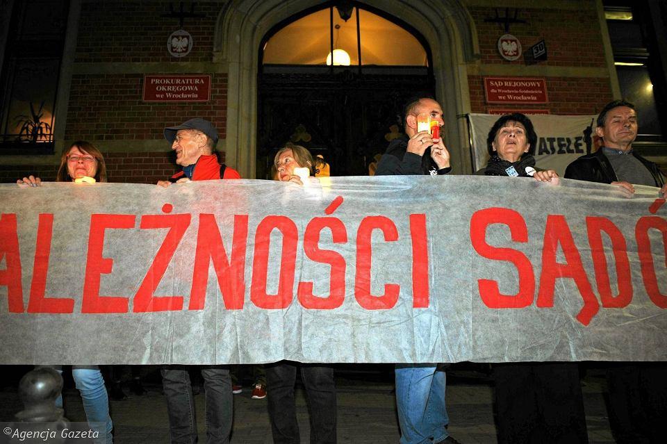 Wrocławianie znowu będą bronić niezależności sądów.
