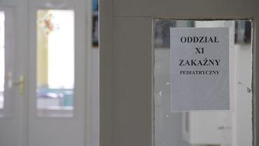 Oddział pediatryczny w szpitalu przy ul. Wolskiej