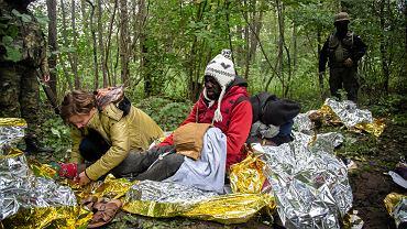 Lososna 21.09.2021, grupa uchodźców z Afryki