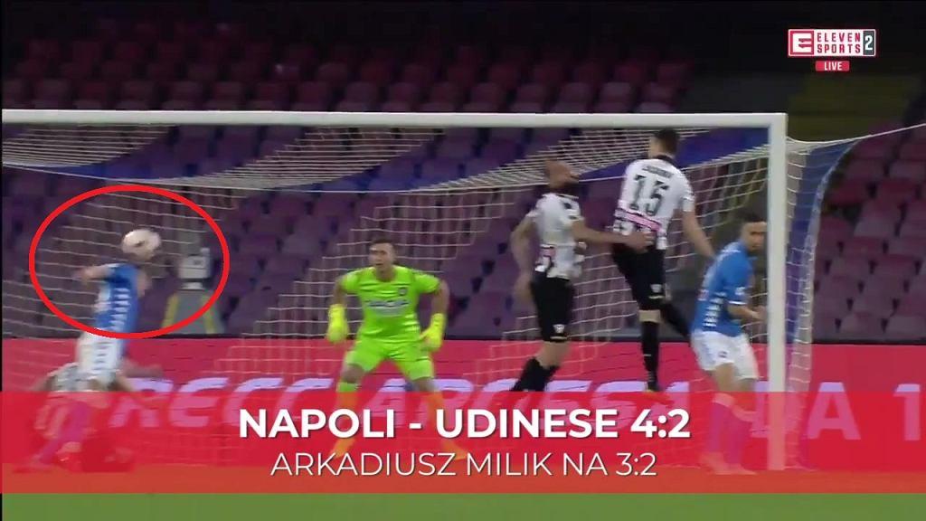 Arkadiusz Milik strzelił gola w meczu z Udinese