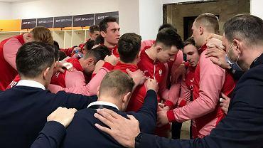 Reprezentacja Polski piłkarzy ręcznych przed meczem z Węgrami