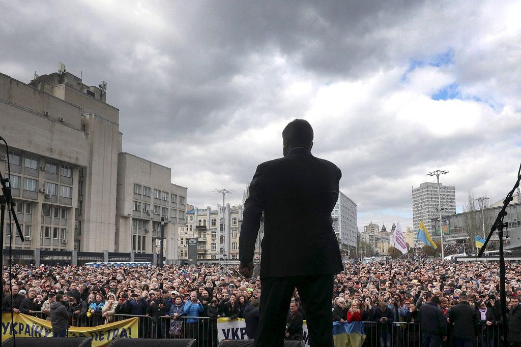 Wybory na Ukrainie. Petro Poroszenko w trakcie kampanii wyborczej