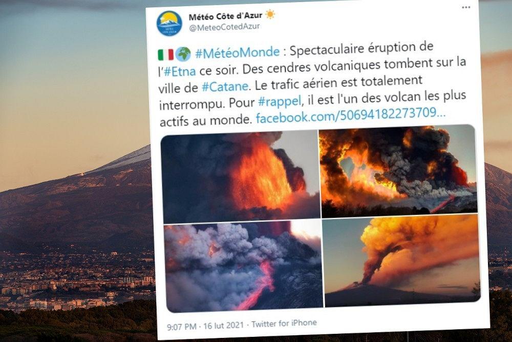 Wybuch Etny. Spektakularne zdjęcia i nagrania obiegły sieć