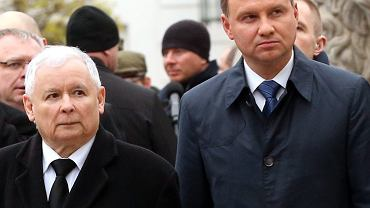 Andrzej Duda i Jaroslaw Kaczyński